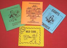 Lot of 4 Worlds GREATEST close-up street magic CARD TRICKS wild card! BARGAIN!