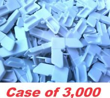 White Plastic Screen Corners (Case Of 3,000)