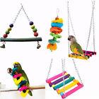 Pet Bird Parrot Parakeet Budgie Cockatiel Cage Hammock Chew Swing Hanging Toys Z