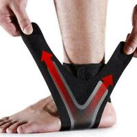 ADJUSTABLE ELASTIC ANKLE SLEEVE Elastic Ankle Brace Sports Foot Guard New G L2G9