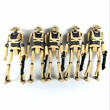 "5x STAR WARS the clone wars TACTICAL DROID TA-175 Battle of Ryloth 3.75"" Figures"