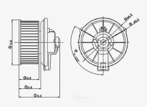 HVAC Blower Motor Global 2311288