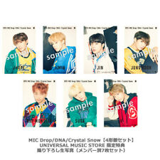 Lot 7 BTS MIC Drop DNA Crystal Snow Photo set Universal Music Store Edition F/S