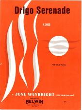 Drigo Serenade For Solo Piano 1966 vintage sheet music