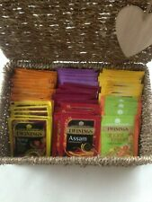 TWININGS  45 TEABAG SELECTION IN SEAGRASS BASKET & HEART GIFT TAG