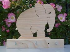 ELEPHANT, accroche-torchons (ou porte-clés) en bois
