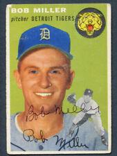 Bob Miller #241 signed autograph auto 1954 Topps Baseball Trading Card