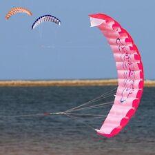 1.4m Beginner Power Dual Line Stunt Parafoil Parachute Rainbow Sports Beach Kite