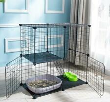 3-Tier Large Folding Pet Cat Wire Cage Indoor Outdoor Playpen Vacation Us Ship