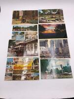 Vintage Lot of 8 Souvenir Postcards United States New Orleans Times Square etc