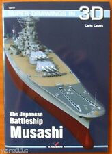 *The Japanese Battleship Musashi - Super Drawings in 3D - Kagero ENGLISH