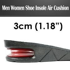 3cm/1.2inch Men Shoe Insole Air Cushion Heel insert Increase Taller Height Lift