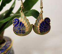 Lyns Jewelry Blue Cloisonne Teardrop Earrings