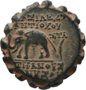 DIONYSOS Seleukiden Antiochos VI. AE-21 Elefant #MH 1227
