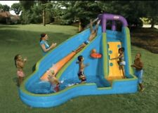 little tikes Slam Curve inflatable bounce house Pool Slide Water Park Blower New