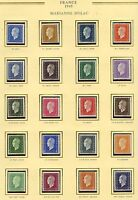 STAMP /  TIMBRE FRANCE NEUF SERIE N° 682/701 ** MARIANNE DE DULAC