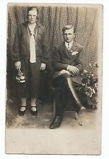 BM961 Carte Photo vintage card RPPC Couple Mode fashion Botte Jozef Rokita