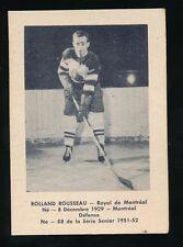1951-52 Laval Dairy (QSHL) #88 ROLAND ROUSSEAU (Montreal)