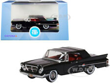 1961 CHRYSLER 300 CLOSED CONVERTIBLE BLACK 1/87 (HO) DIECAST BY OXFORD 87CC61002