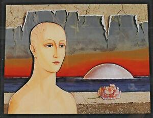 Portrait of a Woman IN Surrealer Landscape