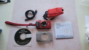 ✅Olympus Tough TG-4 16.0MP 50 Feet Waterproof Digital Camera - Red