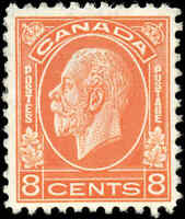 Mint H Canada 1932 F-VF Scott #198 4c King George V Medallion Issue Stamp