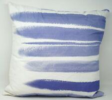 "bluebellgray Brushstrokes-Print 18"" Square 100% Cotton Decorative Pillow"
