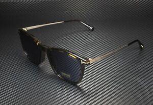 Tom Ford Arnaud-02 FT0625-F 52V Dk Havana Rose Gold Blue 56 mm Men's Sunglasses