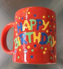 WAECHTERSBACH Happy Birthday Confetti Red Mug Cup Made in Germany 12 OZ.