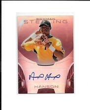 ALEN HANSON 2013 Bowman Sterling Prospects RUBY REFRACTOR AUTO RC 64/99 Giants