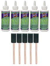 5 Aleene's TACK-IT Over & Over liquid glue 4oz repositionable - make glue dots!!