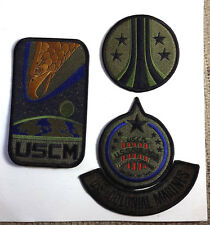 ALIENS Movie USCM Sulaco CAMO Uniform Patch Set of 4- FREE S&H (ALPA-1/2/3/4-B)