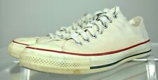 Vintage 90's Converse Dirty Off-White Low Top Sneakers Shoes 12 Men's Usa Made