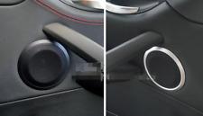 Metal Front Door Speaker Cover Trim Rings 2pcs for BMW 3 Series E90 2005-2011