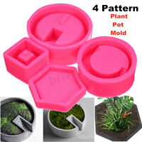 3D Flower Pot Silicone Molds DIY Craft Decorating Concrete For Succulent Plant