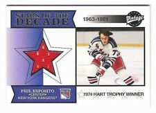 PHIL ESPOSITO 2001 UD VINTAGE STARS OF THE DECADE GAME USED JERSEY