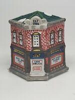 CERAMIC Christmas building w/light hole GEM DRUGS American Landmarks 🇺🇸RETAIL