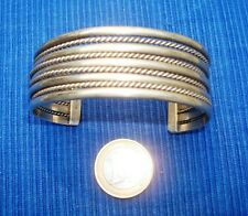 B17 Bracelet Argent Sterling Silver Native American Navajo TAHE Cuff Bracelet