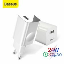 Baseus 24W USB Wall Charger Quick Charge Adapter for iPhone 12 Mini Samsung S20