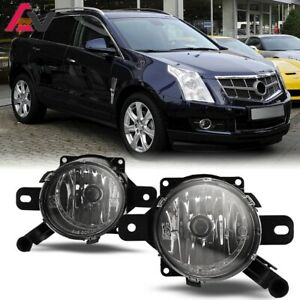 For Cadillac SRX 10-15 Clear Lens Pair Bumper Fog Light Lamp Replacement