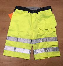 "Snickers 5133 Hi Viz Shorts 35"" Waist EU Size 50 Brand New"