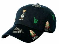 Polo Ralph Lauren College Bear Embroidered Navy Adjustable Baseball Cap Hat