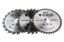 3 x VEWERK legno circolare TCT Lama 184mm x 30mm 20T 24T 40T tabella Mitre