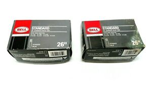 """Bell Standard 26"""" Schrader Valve Bike Bicycle Tire Tube Lot Of 2 New"""
