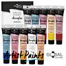 10 Colour - 75ml PAINT TUBE SET Global Colours Student Fine Art Acrylic Impasto