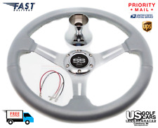 Club Car DS Steering Wheel with Hub Adapter - Silver - 1985 to Current
