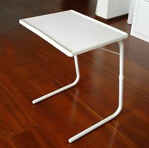 Adjustable Folding Table Tv Dinner Laptop Table Mate Travelling Tray Desk Rest