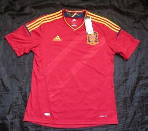 SPAIN ESPANA  Euro 2012 Home Shirt jersey ADIDAS trikot NEW TAGS /adult SIZE L