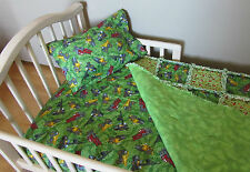 Construction TONKA TRUCK Toddler Bed Crib Bedding Set Baby Boy Rag Quilt Signs