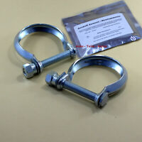 2 x Auspuffschelle für Katalysator Abgasrohr ,Schelle M10 Ø 62 mm+ Zement im Set